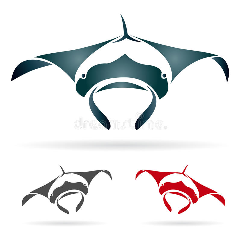 Vector image of an stingray. On white background stock illustration