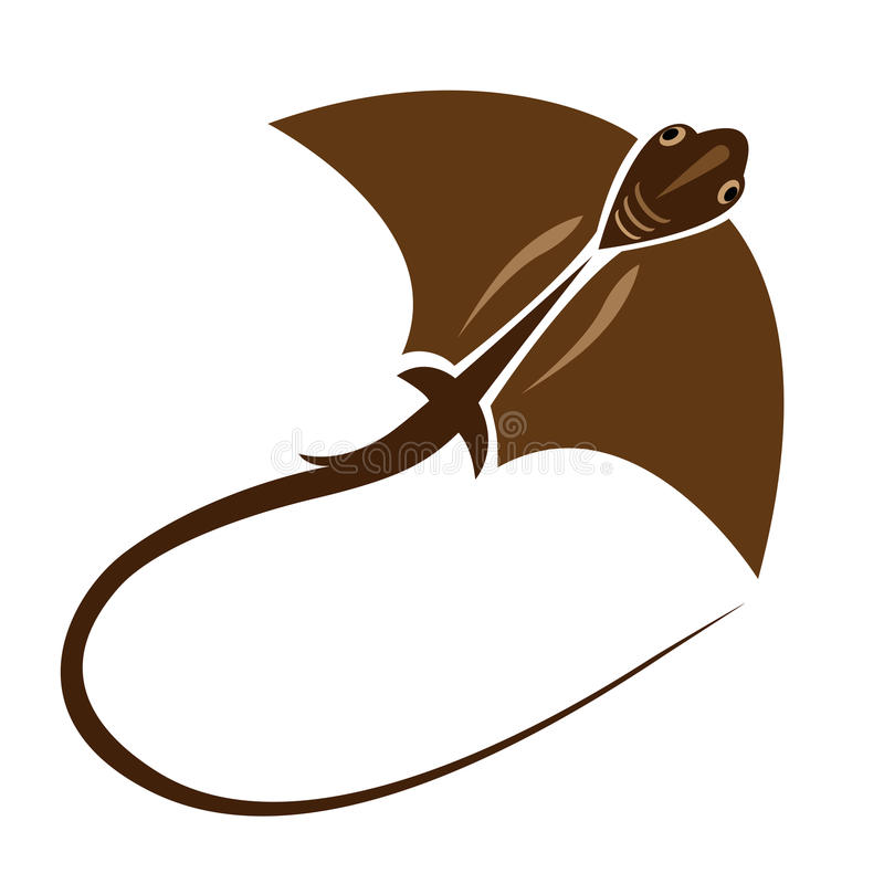 Vector image of an stingray. On white background vector illustration