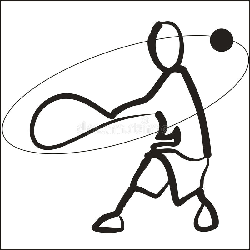 Vector image of tennis player royalty free stock images