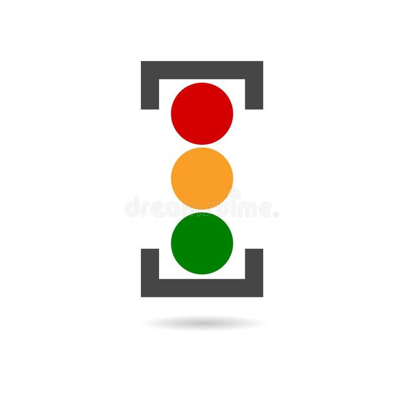 Vector image traffic light. Vector icon stock illustration