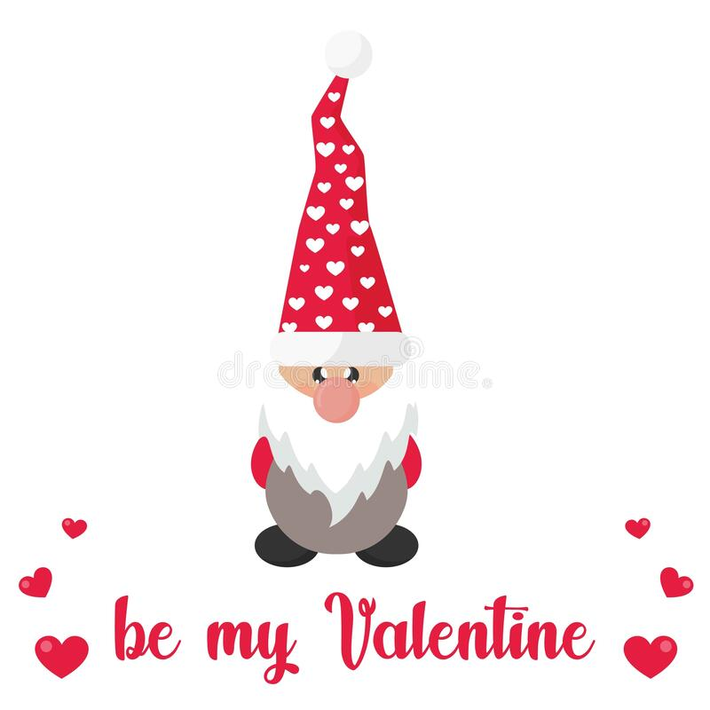 valentines dwarf vector with lovely balloon royalty free stock images
