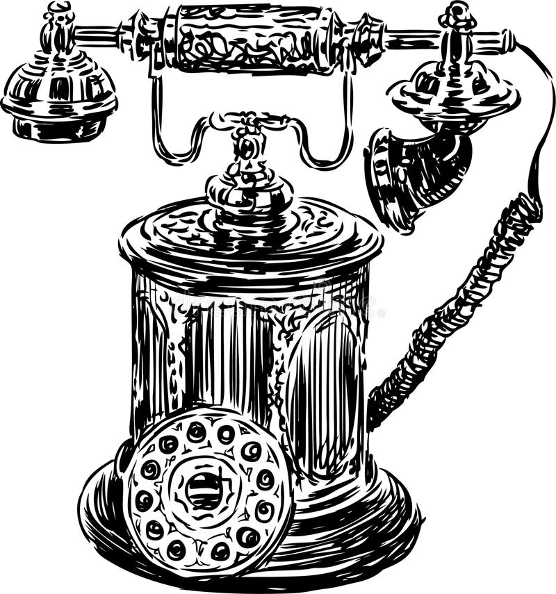Download Antique Phone Stock Vector Illustration Of Back Styled