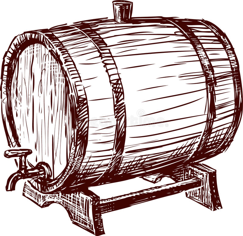Download Cask stock photo. Image of winemaking, sketch, drink - 29931338