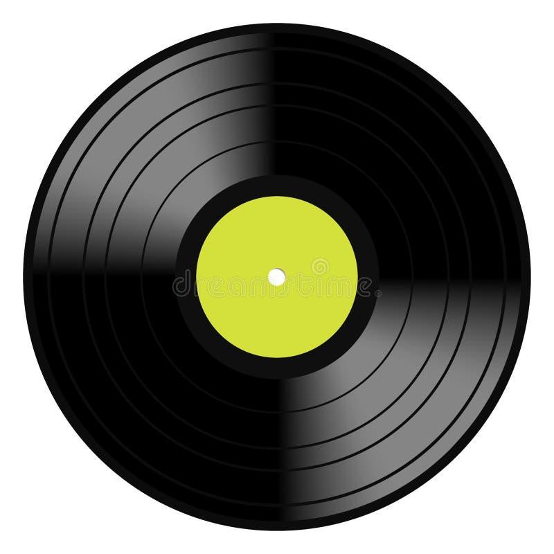 Registro do vintage do disco do vinil do Lp ilustração stock