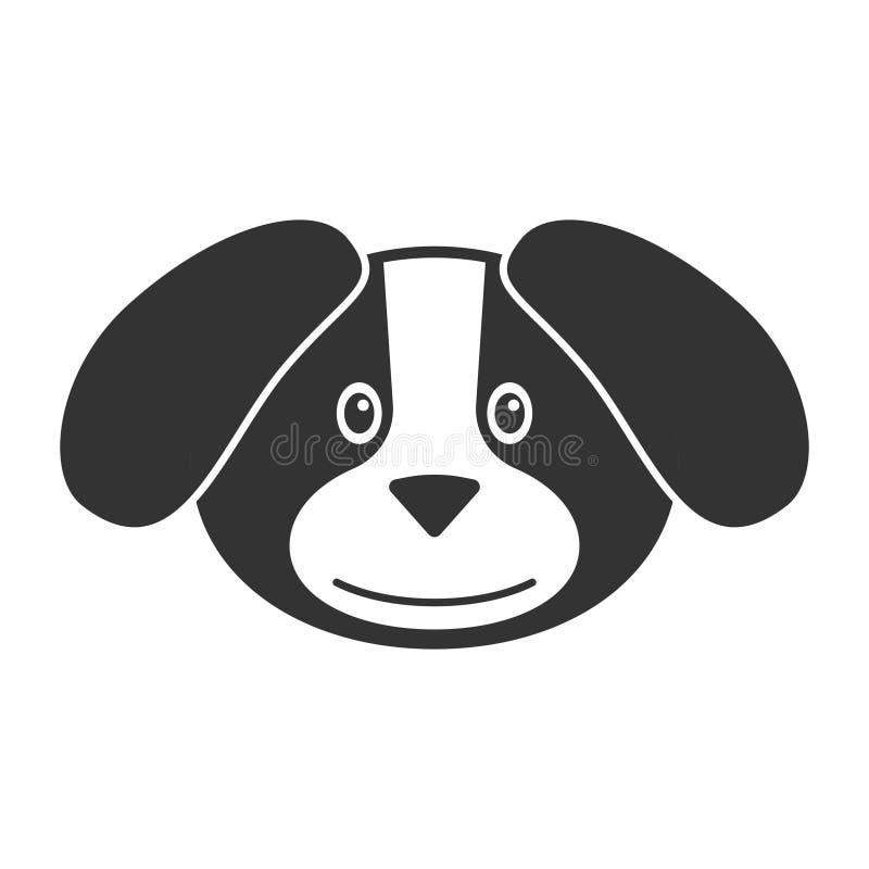 Vector a imagem de um cão dos desenhos animados em um fundo branco Ilustração do contorno para o logotipo ou o ícone ilustração do vetor