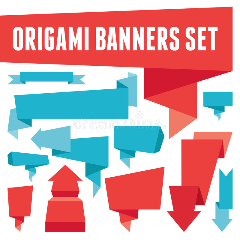 Download Origami Banners Set stock vector. Image of message, fold - 29976290