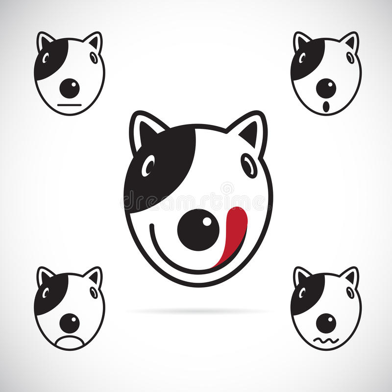 Vector Images Of Bull Terrier Face Stock Vector