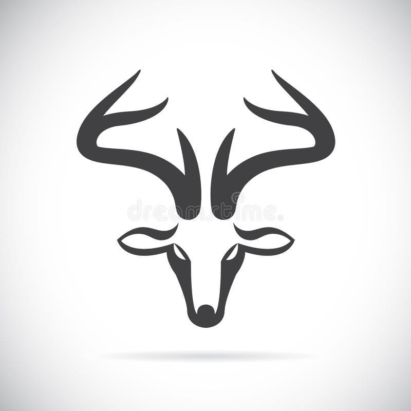 Vector images of deer head royalty free illustration