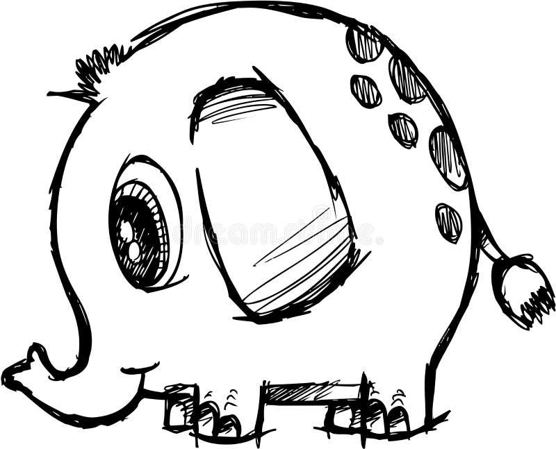 Vector incompleto del elefante ilustración del vector