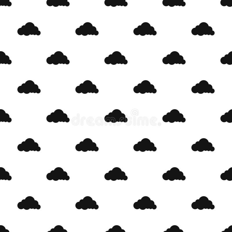 Vector inconsútil acodado del modelo de la nube de lluvia libre illustration