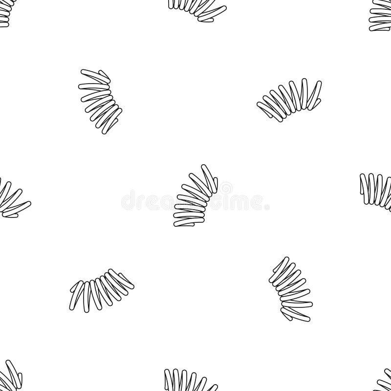 Vector inconsútil de la primavera del modelo elástico de la bobina libre illustration