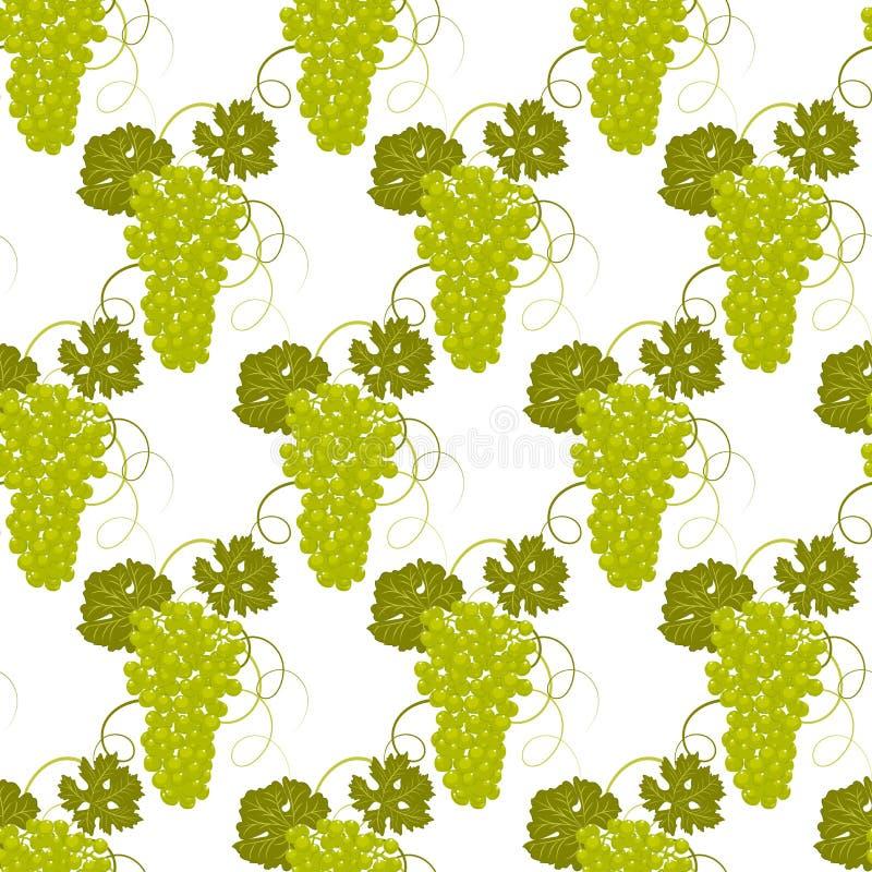 Vector inconsútil de las uvas del modelo stock de ilustración