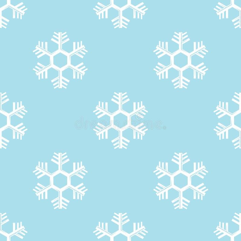 Vector inconsútil del fondo del copo de nieve libre illustration