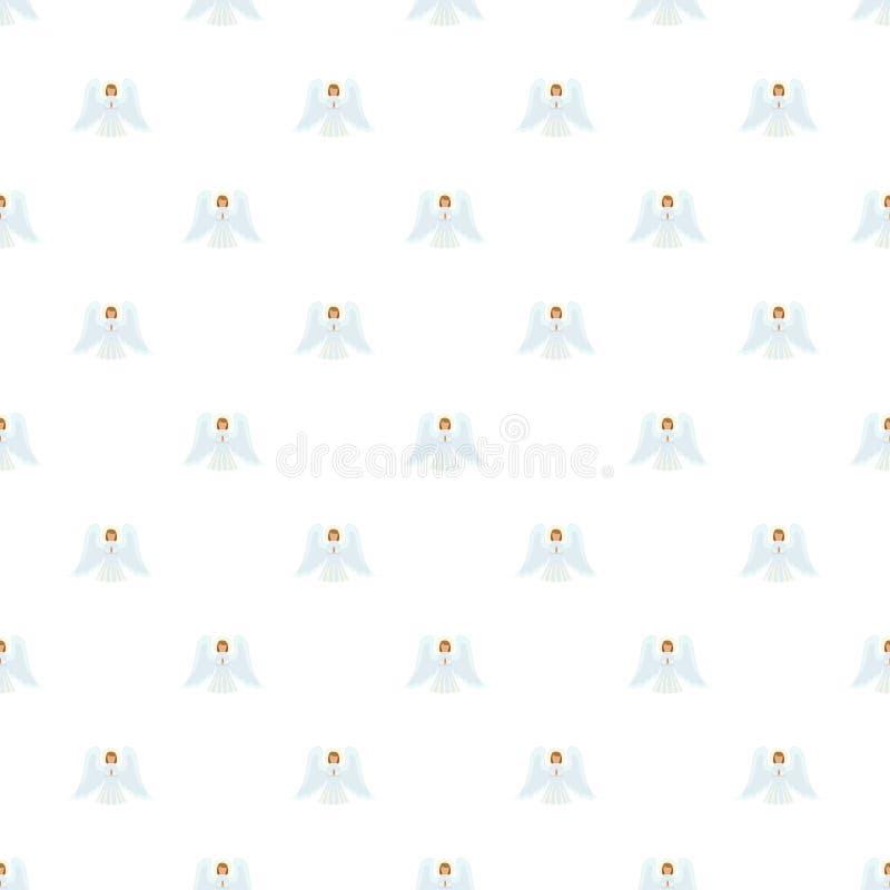 Vector inconsútil del modelo del ángel de la Navidad ilustración del vector