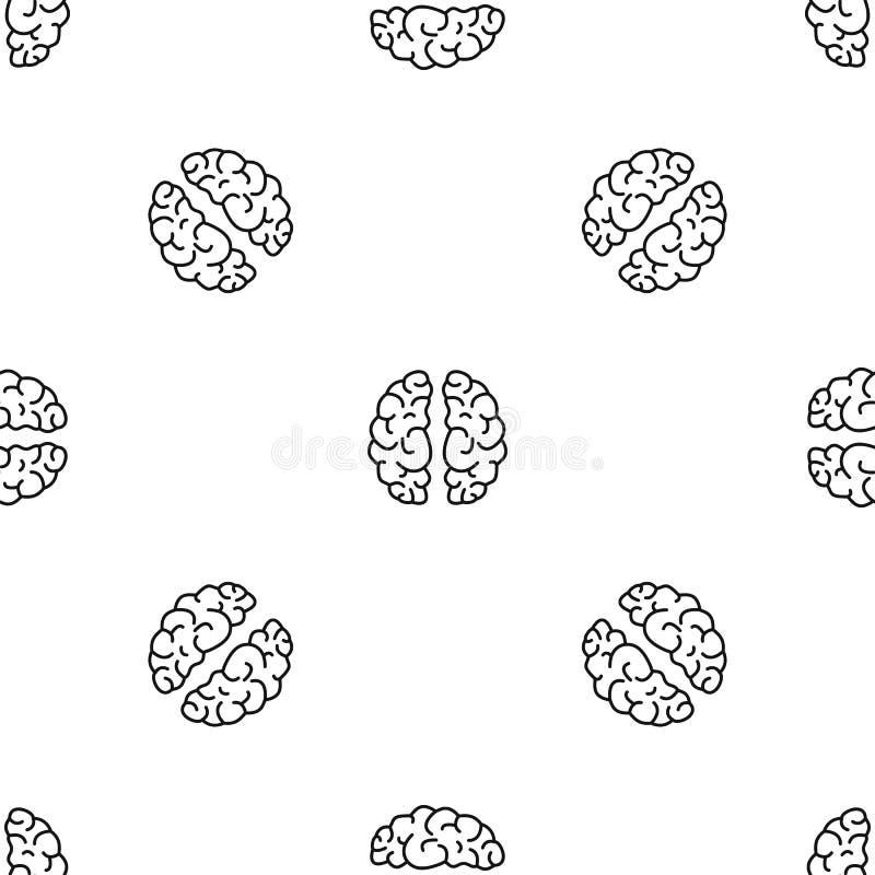 Vector inconsútil del modelo artificial del cerebro ilustración del vector