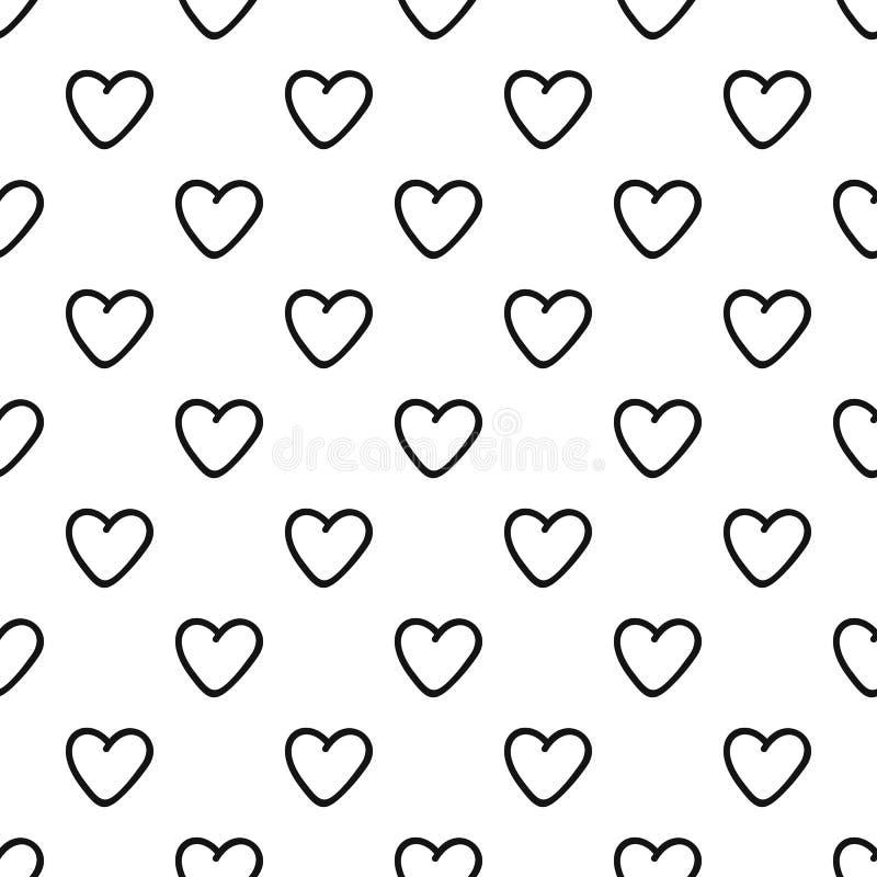 Vector inconsútil del modelo codicioso del corazón libre illustration