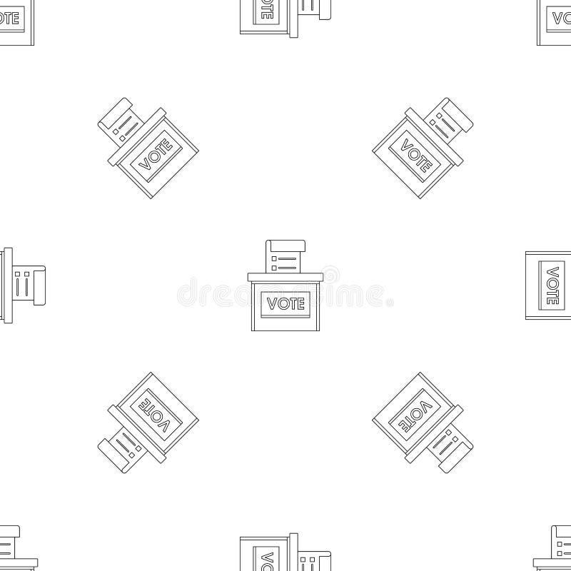 Vector inconsútil del modelo de la caja de la elección del voto libre illustration
