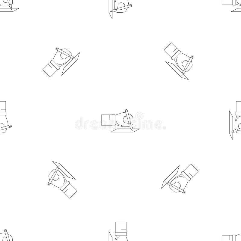Vector inconsútil del modelo de la elección de la muestra de la mano stock de ilustración