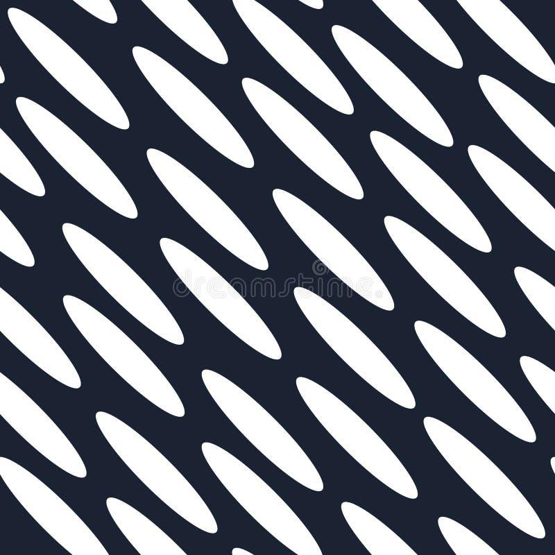 Vector inconsútil del modelo de la elipse diagonal stock de ilustración
