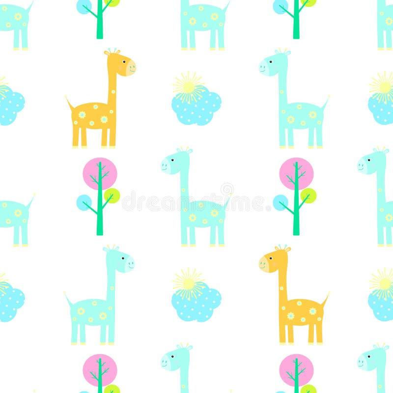 Vector inconsútil del modelo de la jirafa libre illustration