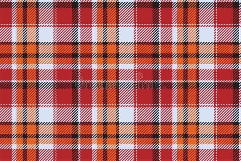 Vector inconsútil del modelo de la tela escocesa de Escocia del tartán Tela retra del fondo Textura geométrica del cuadrado del c stock de ilustración