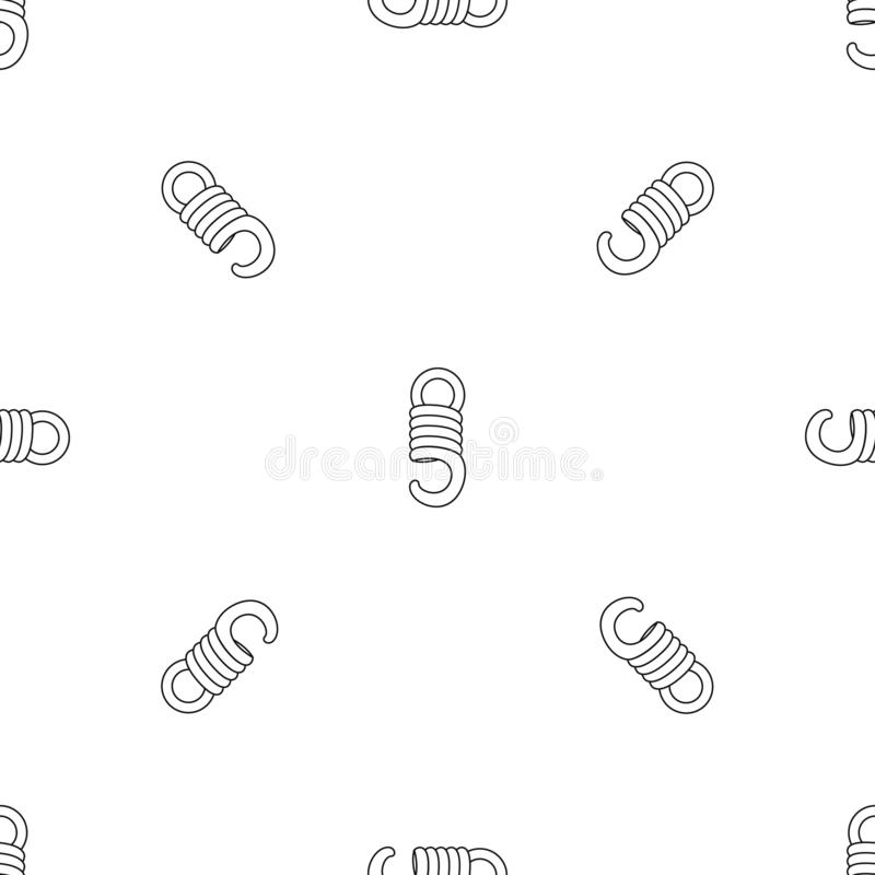Vector inconsútil del modelo elástico de la bobina stock de ilustración