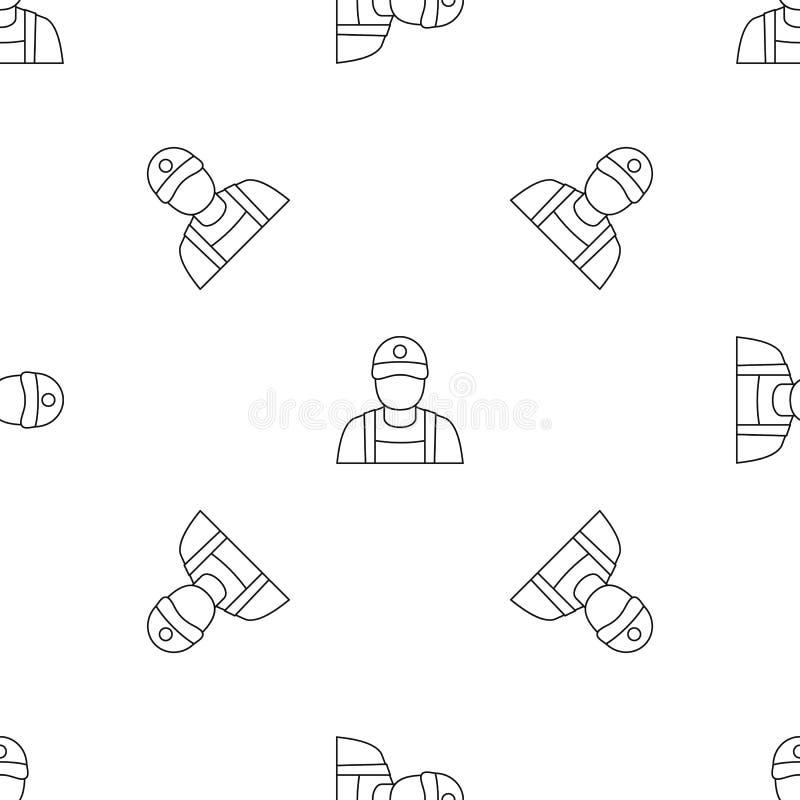 Vector inconsútil del modelo del hombre de la gasolinera stock de ilustración
