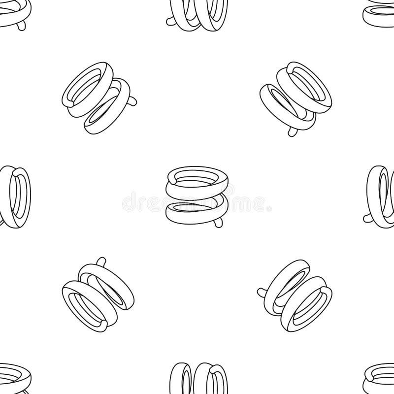 Vector inconsútil del modelo industrial de la primavera libre illustration