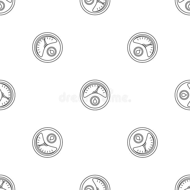 Vector inconsútil del modelo del tablero de instrumentos de la gasolina libre illustration