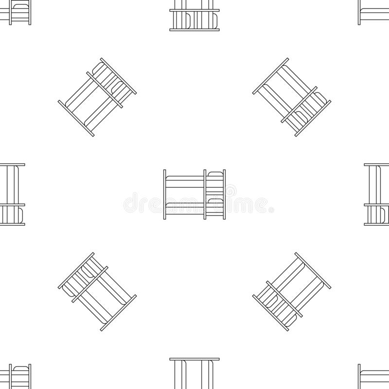 Vector inconsútil del niño del modelo doble de la cama libre illustration