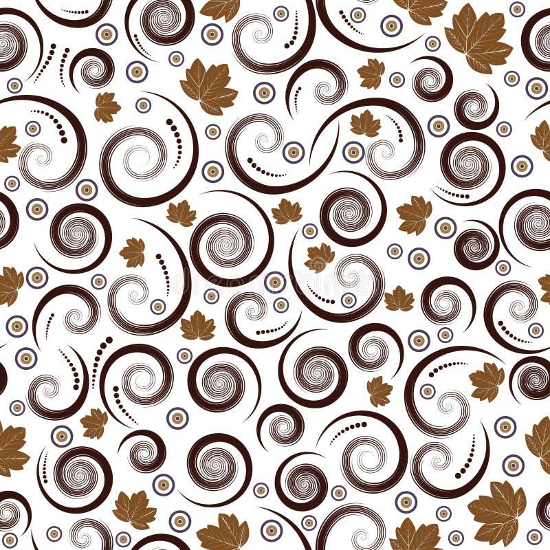 Vector inconsútil del otoño floral stock de ilustración