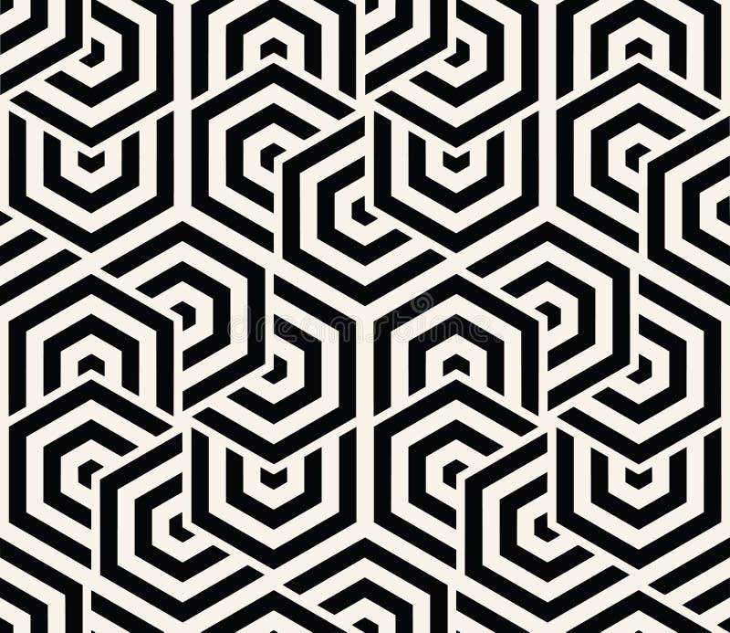 Vector inconsútil geométrico del modelo libre illustration