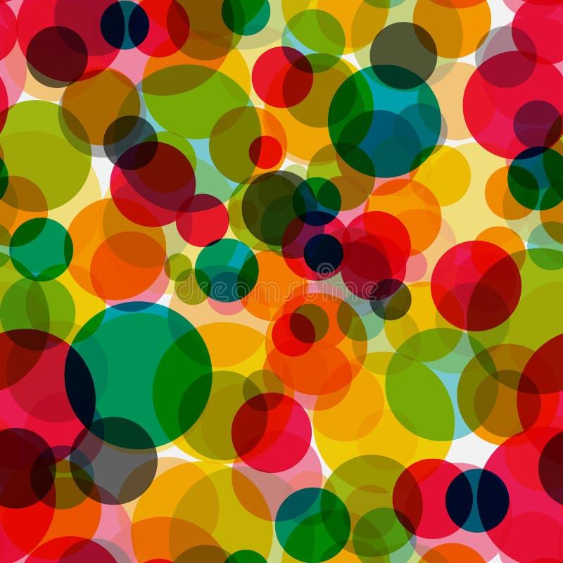 Vector inconsútil Illust del fondo del modelo del círculo brillante abstracto stock de ilustración