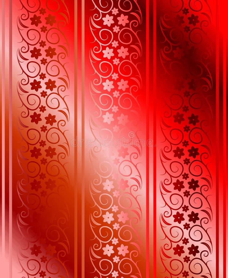 Vector inconsútil rojo del brocado libre illustration