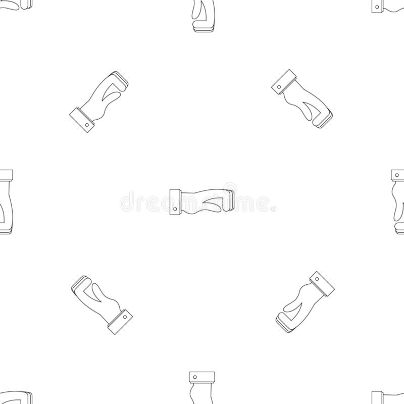 Vector inconsútil torcido del modelo del finger ilustración del vector