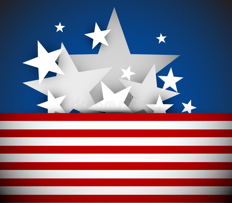 Vector independence day background stock illustration