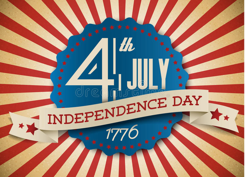 Vector independence day badge / poster vector illustration