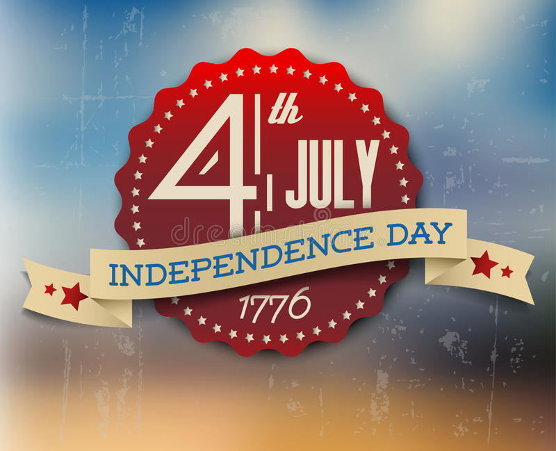 Vector independence day badge / poster stock illustration