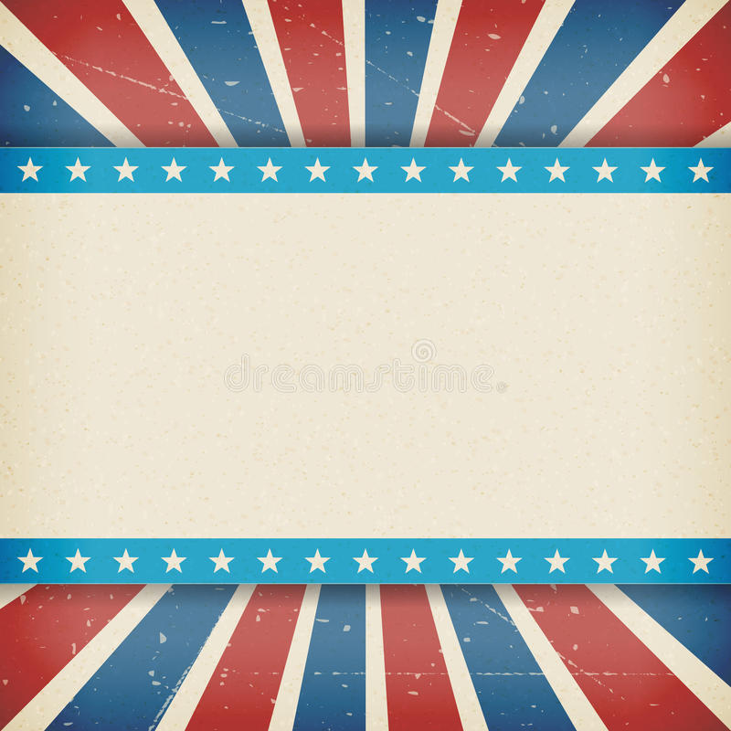 Vector independence 4th July american day poster. Vintage independence 4th July american day poster. Vector illustration. Layered vector illustration