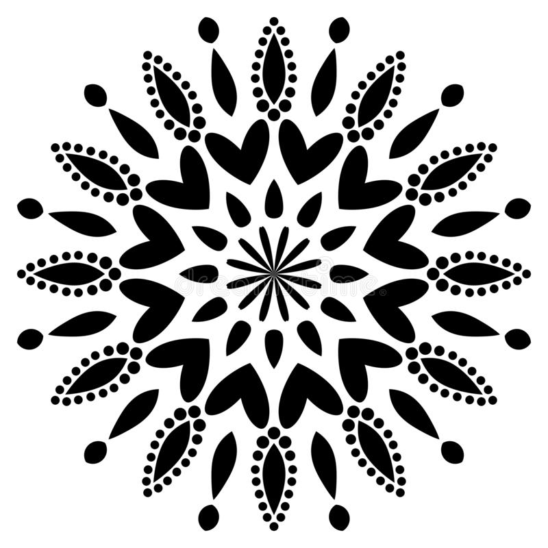 Vector Indian Mandala. Motif, invitation. stock illustration