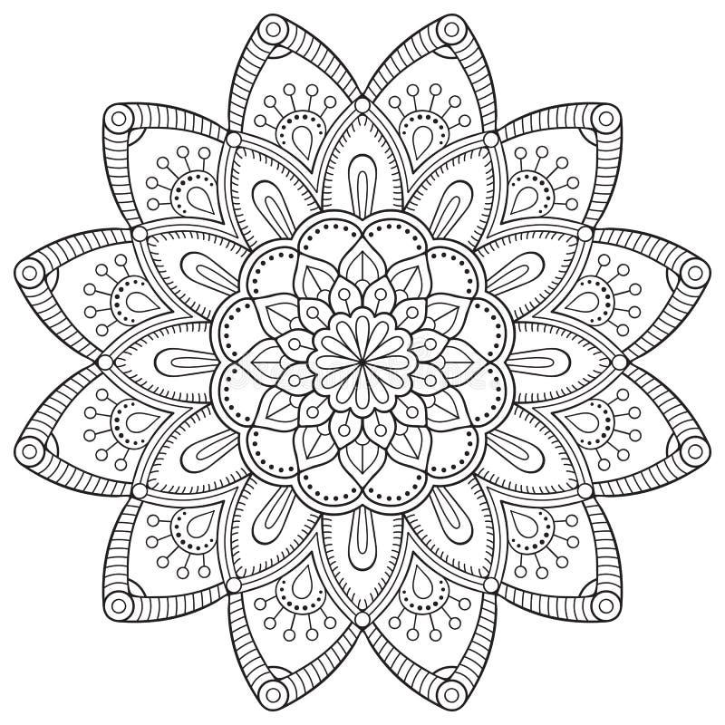 Vector indian Mandala stock illustration