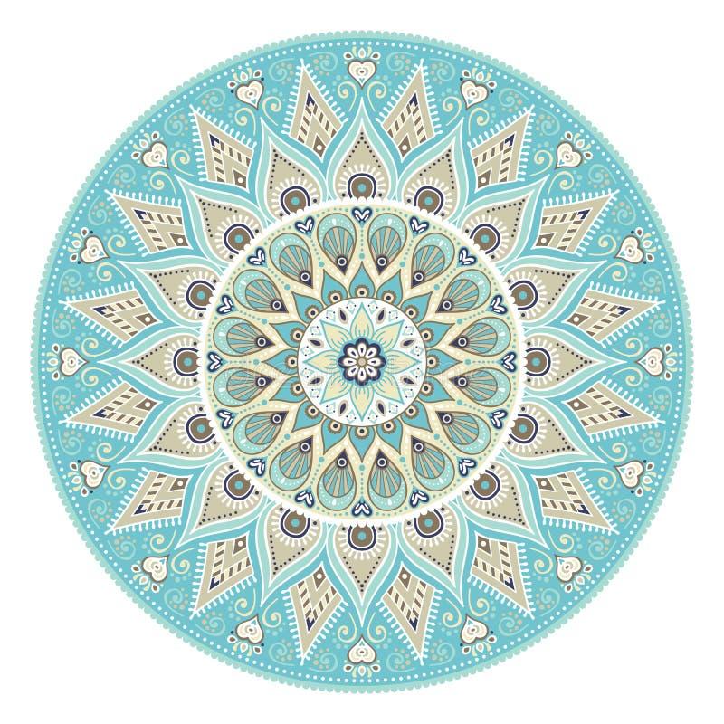 Vector indian Mandala royalty free illustration