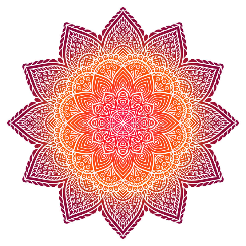 Vector indian Mandala vector illustration