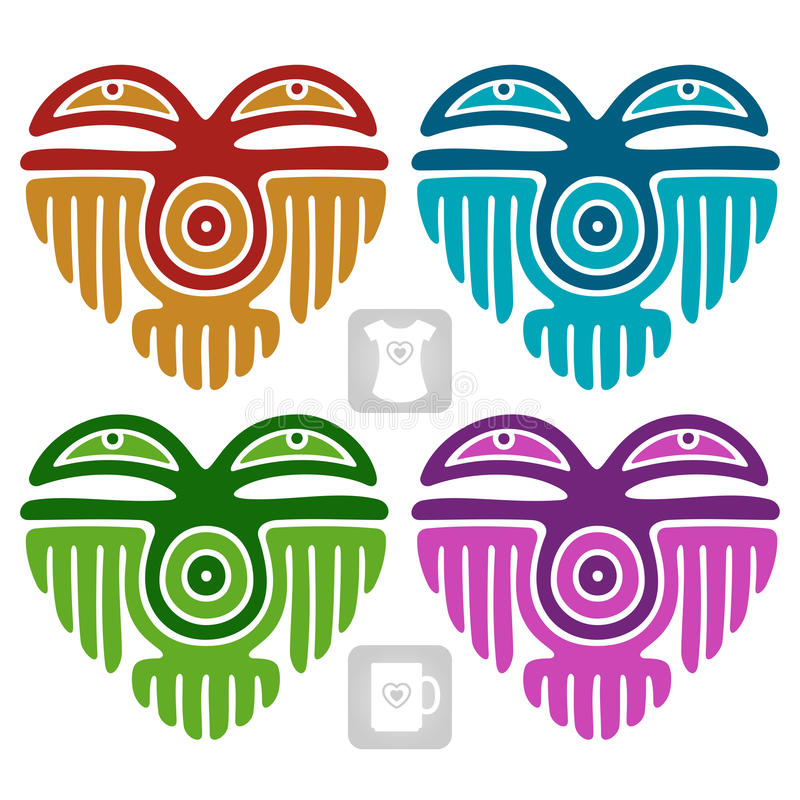 Download Vector Indian Pattern In The Shape Of Heart Stock Vector - Image: 31939766