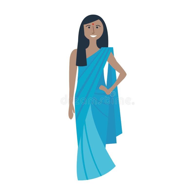 Vector indio tradicional joven de la mujer libre illustration