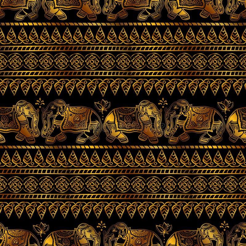 Vector Indische etnische olifant royalty-vrije illustratie