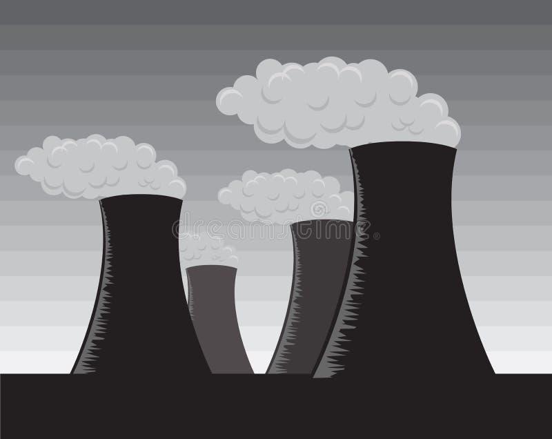 Download Vector Industrial Factories, Grayscale Stock Vector - Illustration: 5859714
