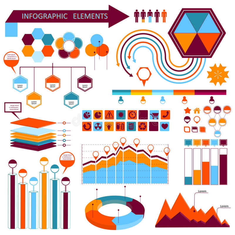 Free Vector Info-graphic Elements Set 01 Royalty Free Stock Photo - 32186135