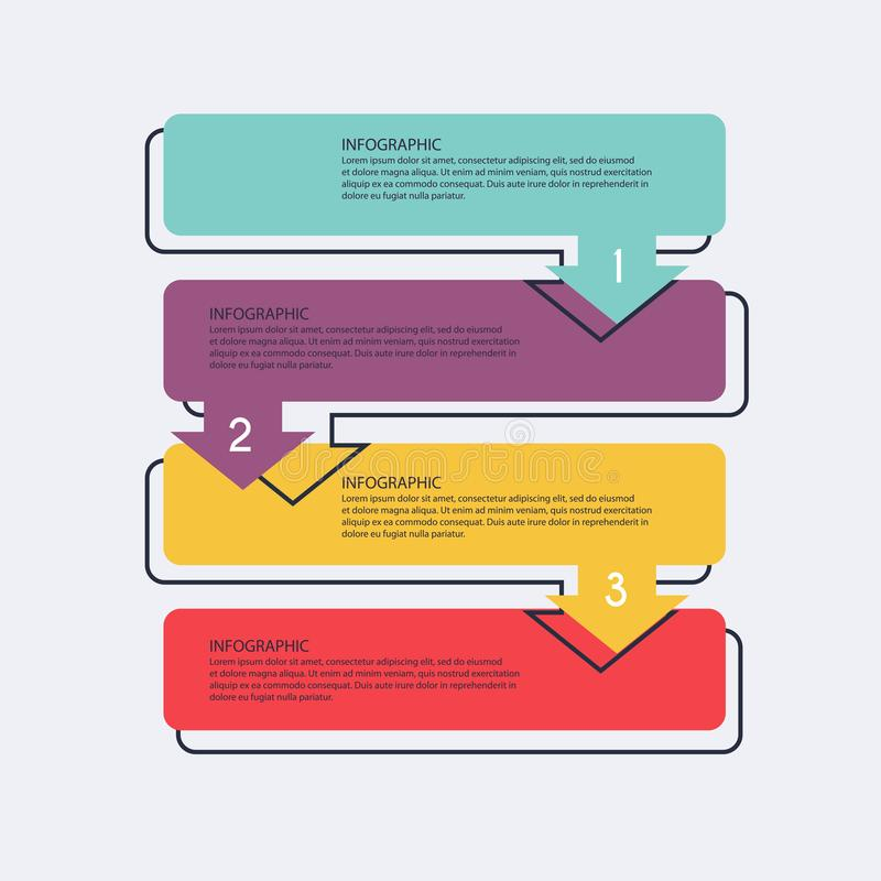 Vector info graphics for your business presentations. Can be use. D for website layout, numbered banners, diagram, horizontal cutout lines, web design royalty free illustration