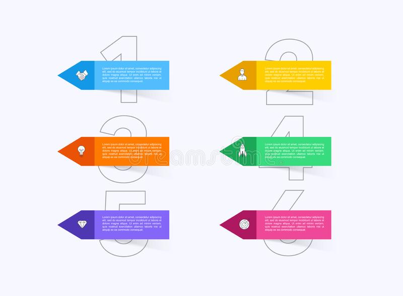 Vector info graphics for your business presentations. Can be used for website layout, numbered banners, diagram, horizontal cutout. Lines, web design vector illustration